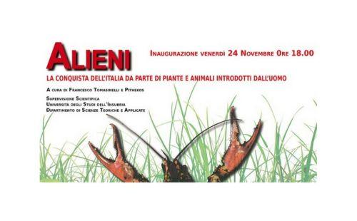 Alieni - mostra a Villa Mirabello