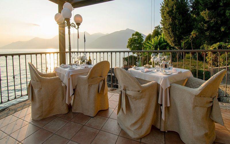 Romantica cena al Camin Hotel Colmegna